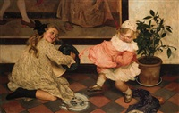 the dance lesson by louis albert roessingh