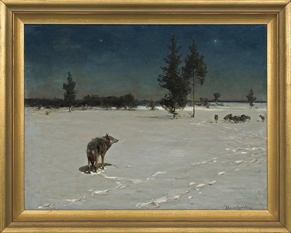 Wolves At Night By Alfred Von Wierusz Kowalski On Artnet