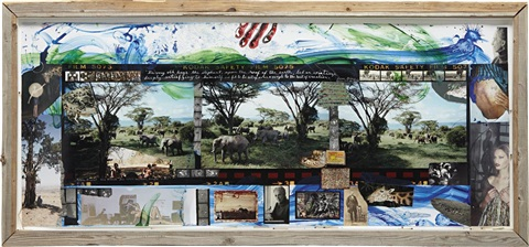 elephant triptych hog ranch nairobi kenya by peter beard