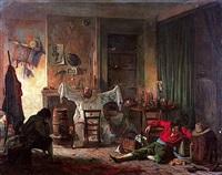 scène d'atelier by antoine jean bail