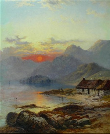 a crofters cottage isle of skye by george blackie sticks