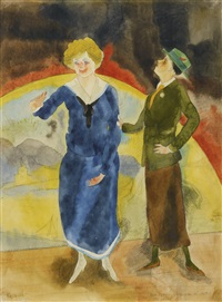in vaudeville: comediennes (vaudeville comediennes) by charles demuth