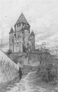 kasteel op een heuvel by henri santin