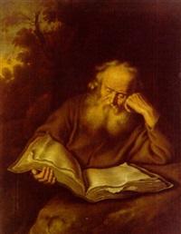 lesender eremit by salomon koninck
