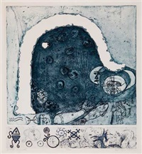 winter symbol (on 2 plates) by betye saar