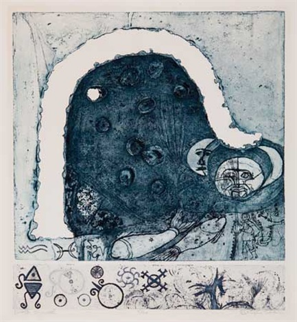 winter symbol on 2 plates by betye saar