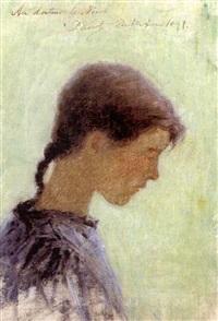 profil de jeune fille by per ewert