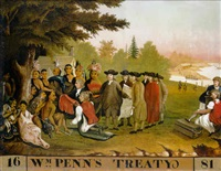 wm penn's treaty, 1681 by edward hicks