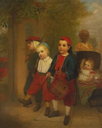 young recruits by john george brown