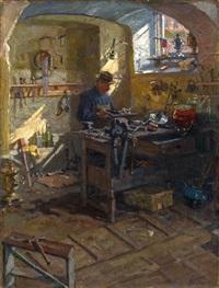 in a samovar shop by arnold borisovich lakhovsky