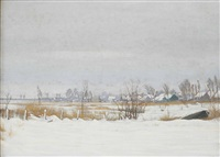 the loosdrechtse plassen in winter by dirk smorenberg