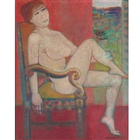 seated nude by blasco mentor