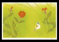 flowers birds seasons (portfolio of 4) by shoko uemura