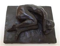 curled sleeping figure by michael ayrton