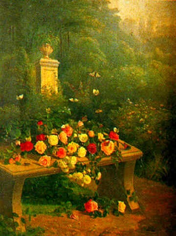 roses et papillons by paul jean pierre gélibert