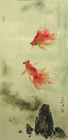two goldfishes by lee man fong