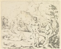 large bathers by paul cézanne