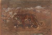 tigre en marche by antoine-louis barye