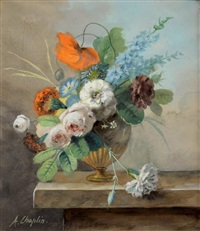 nature morte aux fleurs by arthur chaplin
