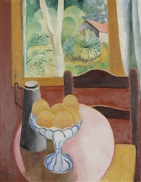 nature morte aux oranges by moïse kisling