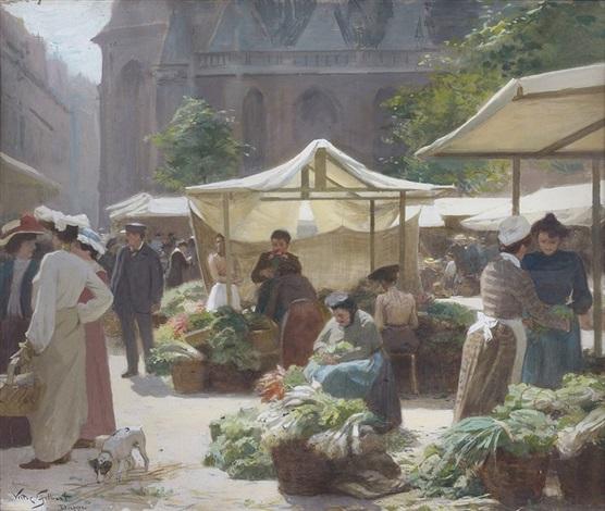 scène de marché by victor gabriel gilbert