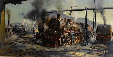 atmosphere of steam by terence cuneo