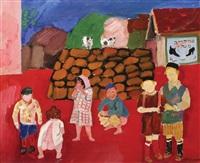 children in jerusalem by pinchas litvinovsky