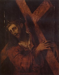 christ on the road to calvary by pedro campana