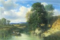 paysage à l'étang by michel bouquet