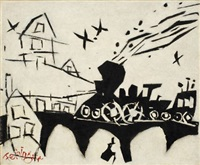 der nachtexpress (the night express) by lyonel feininger