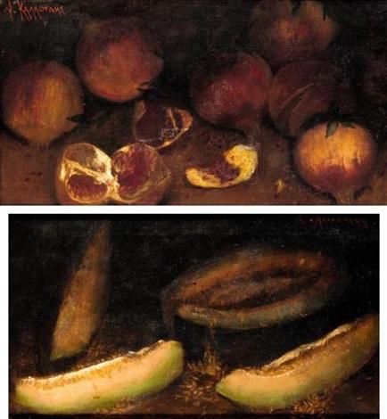 still life (+ another similar; pair) by alexandre kaloudis