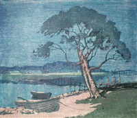 waterside village (mandurah?) by archibald bertram webb