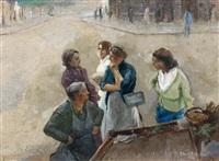 scène de marché by edgar chahine