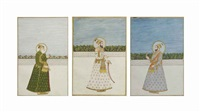 three portraits of mughal emperors and dignitaries by anonymous-indian-mughal (19)