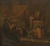 la lecture dans la synagogue by jacob jacobsz de wet the younger