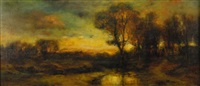 tonalist sunset by charles p. appel
