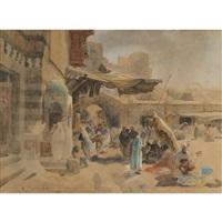 strassenszene in jaffa (street scene in jaffa) by gustav bauernfeind