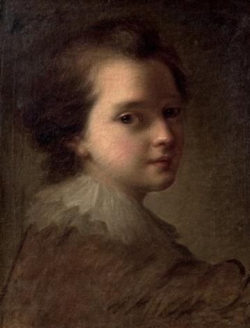 portrait dun jeune enfant by alexis grimou