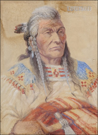 chief louison flathead by edgar samuel paxson