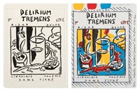 delirium tremens (2 works) by jacques de loustal