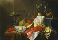 still-life with a lobster, fruit and blue and white kraak dishes by jan davidsz de heem