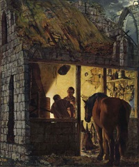 a blacksmith's shop by joseph wright (of derby)
