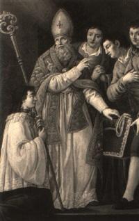 st. thomas of villanueva giving alms by domenico corvi