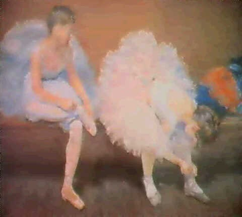 ballerine lacant son chausson by charles paul renouard