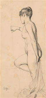 nude by albert edelfelt