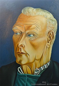 portrait of ted harrington by michael duncan smither