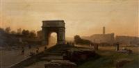 rome, vue du forum by auguste paul charles anastasi