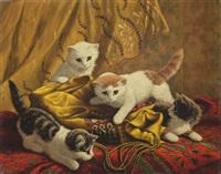 playful kittens by cornelis raaphorst