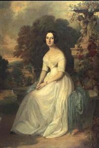 portrait de charlotte de montgaillard de lavalette by ferdinand krumholz