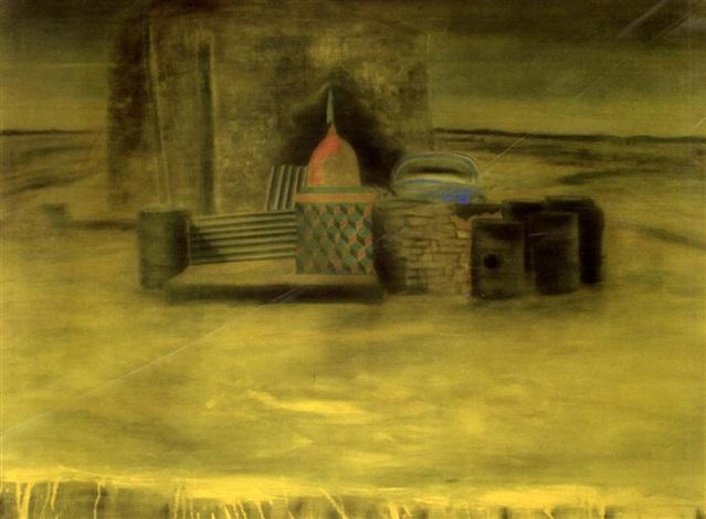 drenched landscape by atul dodiya